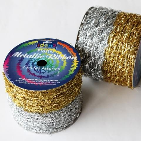 415340 Twisted Metallic Ribbon Gld/Silver