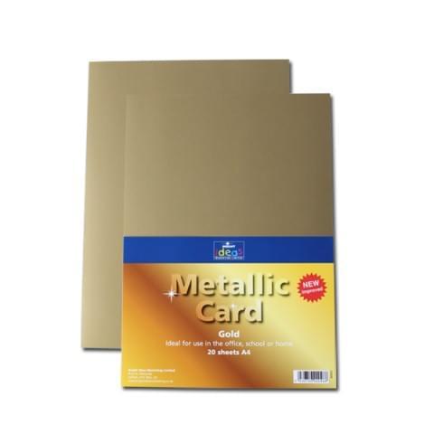 BI0001 Metallic Gold Card A4 20 Sheets