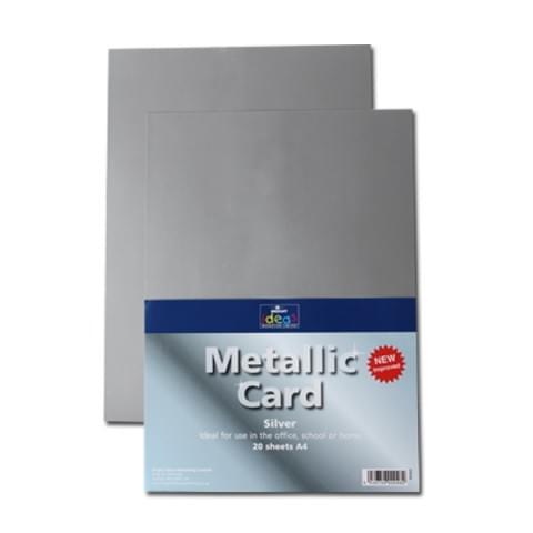 BI0003 Metallic Silver Card A4 20 Sheets