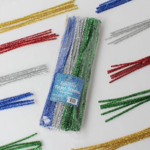 BI0007 Tinsel Craft Stems pk100