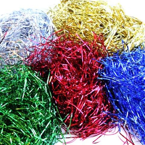 BI0055 Metallic Shreds assorted colours, pack of 5 x 30g