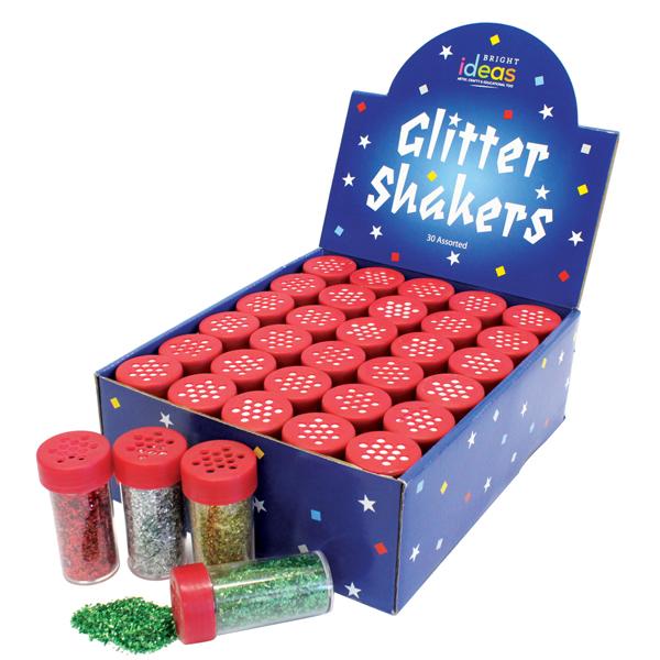 BI0549 Assorted Glitter Shakers 30 x 18g
