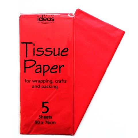 BI0557 Red Tissue Paper Pk05