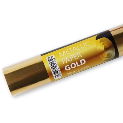 BI0740 Gold Metallic Paper Roll