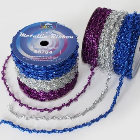 BI0958 Twisted Metallic Ribbon