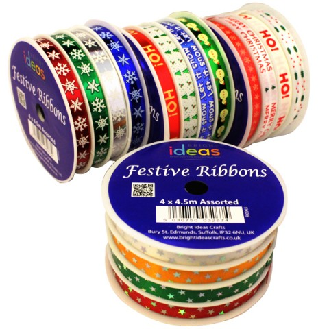 BI0965 Christmas Ribbons Multipack