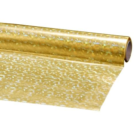 BI1095 Gold Holographic Film Self-Adhesive Roll 45cmx1m