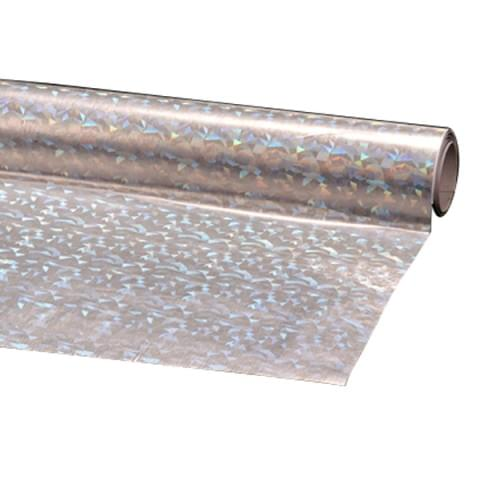BI1096 Silver Holographic Film Self-Adhesive Roll 45cmx1m
