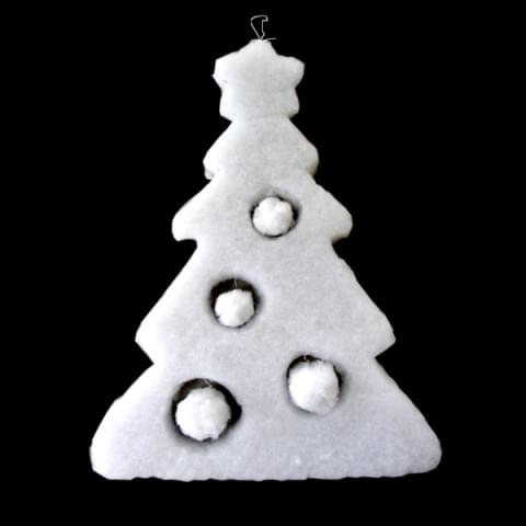 BI1126 Hanging Snow Tree Decoration