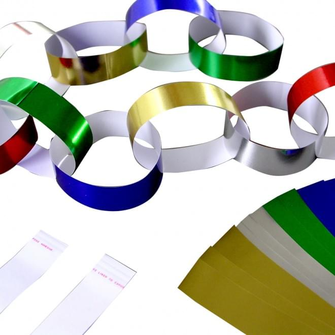 Metallic Paper Chains PK100