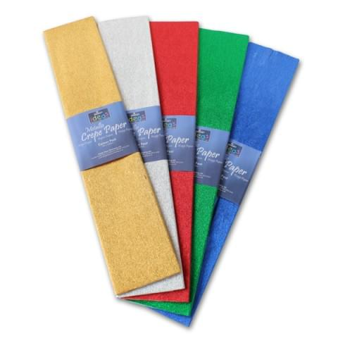 BI2539 Assorted Metallic Crepe Paper