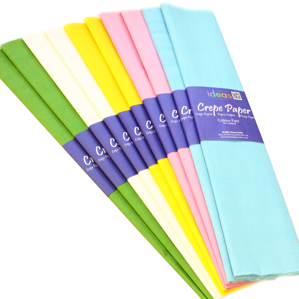 BI2579 Spring Pastel Crepe Paper pk10