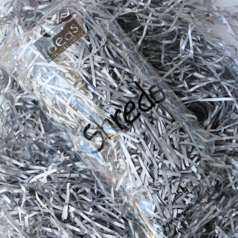 BI2692 Silver Tissue Shreds