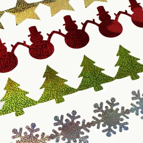 BI2800 Christmas Sticker Strips pk12 Assorted