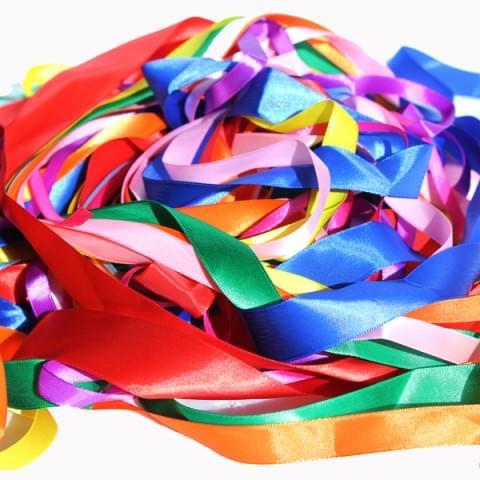 BI3042 Satin Ribbons Bag 50m Assorted