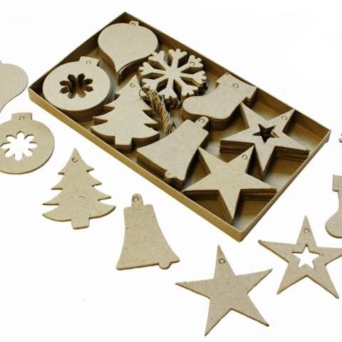 BI4004 Christmas Cut Outs pk80 Decorations