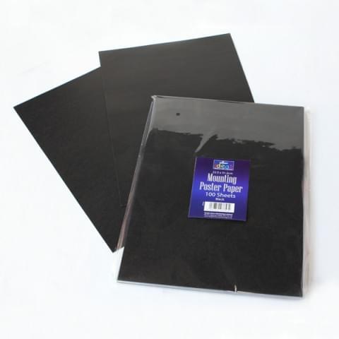 BI7944 Black Poster Paper Sheets