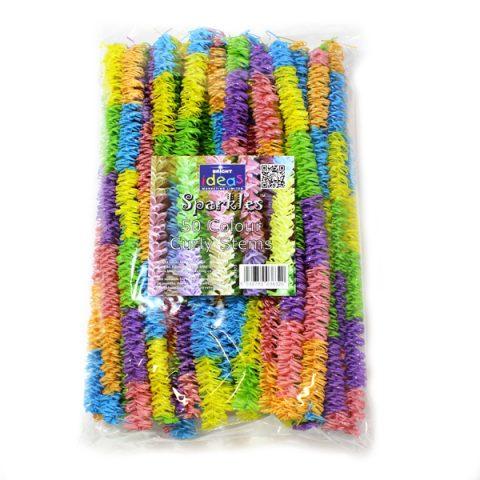 BI7973 Pastel Curly Craft Stems pk50