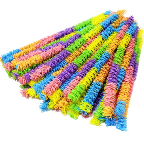 Pastel curly pipe cleaner craft stems