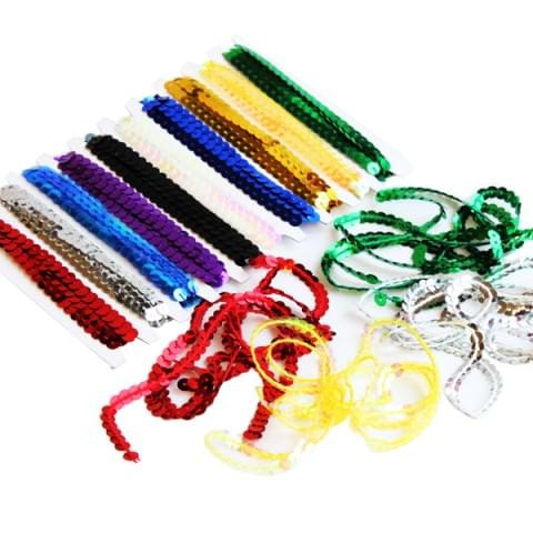 BI8061 Sequin Strings 10m Assorted Colours