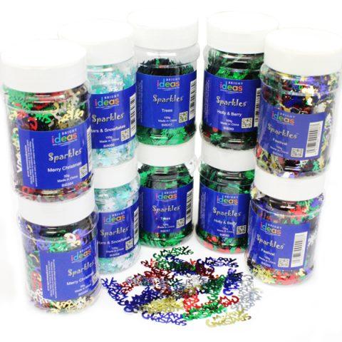 Christmas Confetti Sparkles Shakers PK10