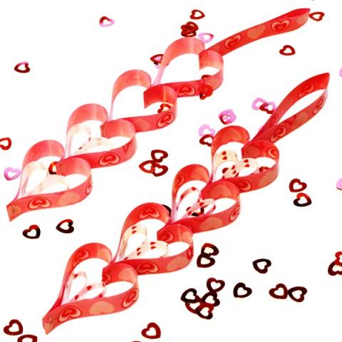 Hearts Ribbon Decorations n