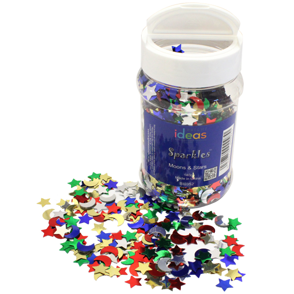 Moons and Stars Confetti Sparkles Shaker 140g
