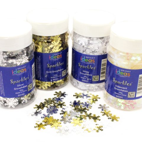 Snowflakes Confetti Sparkles Shakers 100g Various