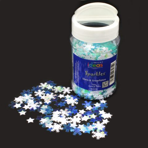 Stars and Snowflakes Confetti Sparkles 100g