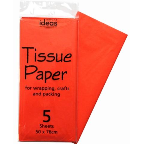 BI2671 Orange Tissue Paper Pk05