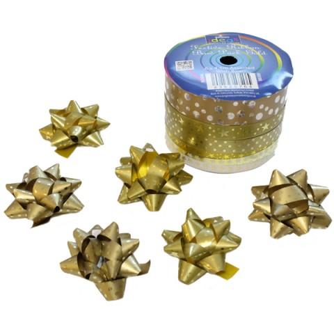 BI3046 Festive Ribbon & Bow Pack Gold