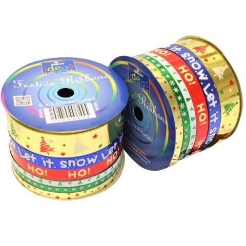 BI3045 Festive Ribbons Spool 6×4