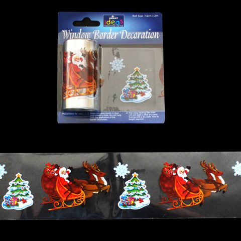 Window Border Santa- Reindeer