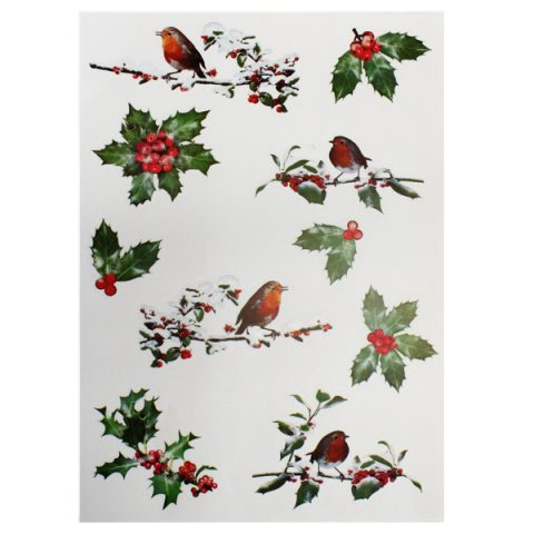 BI7542 Holly Window Stickers