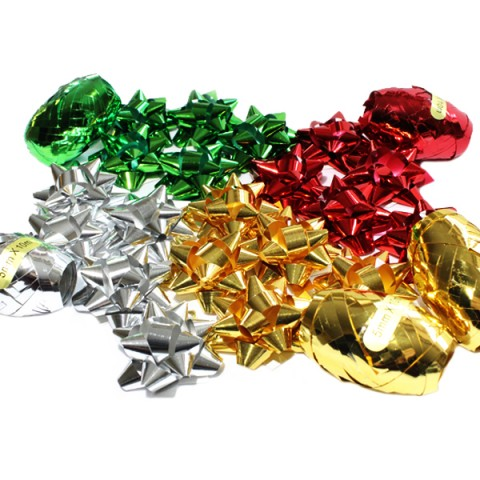 BI3048 Christmas Ribbons and Bows Bag Assorted Colours