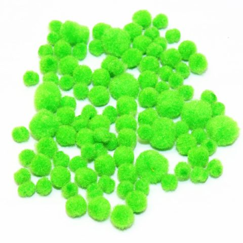 green-mini-pompoms