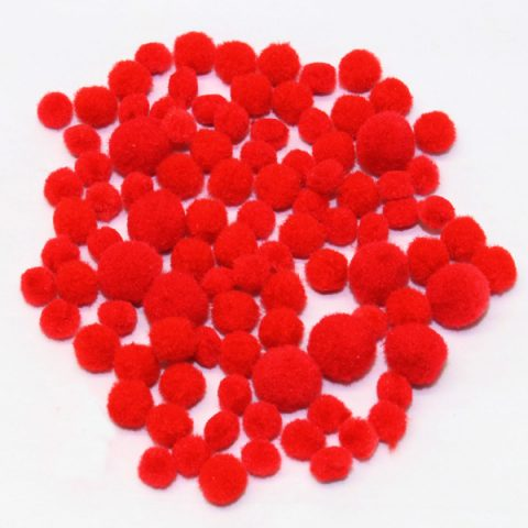 red-mini-pompoms