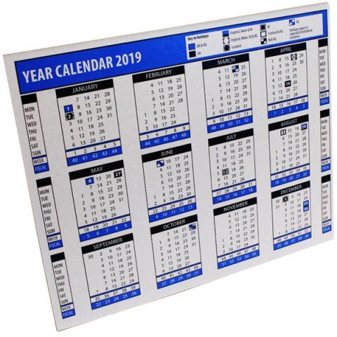 2019 Year Desk Calendar