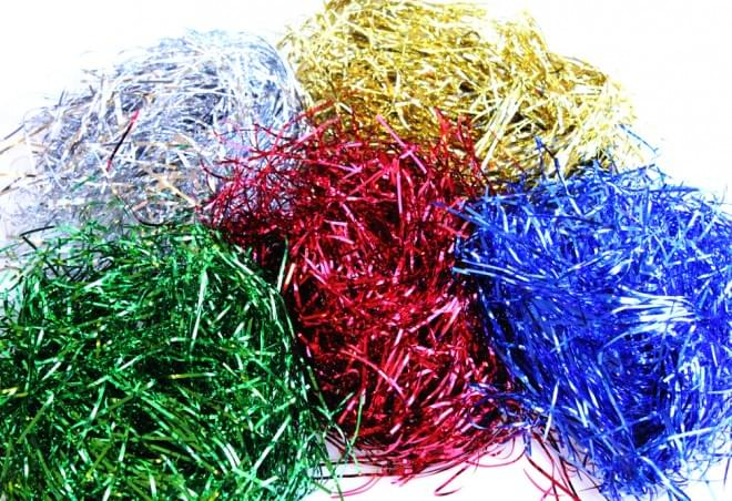 BI0055 Metallic Shreds assorted colours, pack of 5 x 30g
