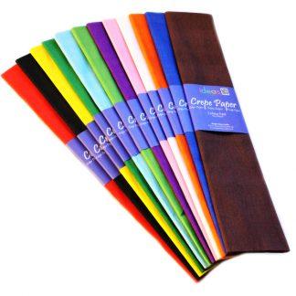 BI0568 Crepe Paper Assorted Pack 12