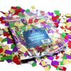 BI1002 Foil Shimmer Shower metallic pieces pack of 100 assorted colours