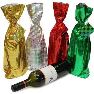 BI2229 Holographic Bottle Bags PK4 Assorted