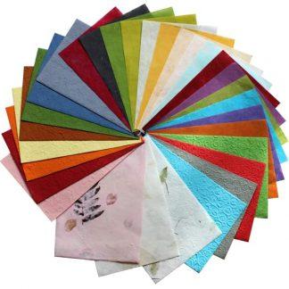 BI2329 Natural Papers pk30 Assorted Sheets