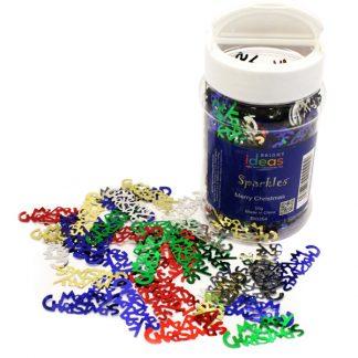 Merry Christmas Confetti Sparkles 50g Jar