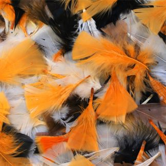 BI2594A Halloween-coloured Natural Feathers 50g