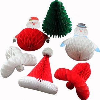 Christmas honeycomb decorations