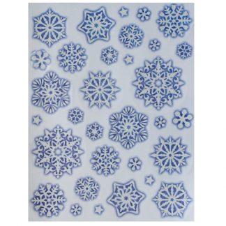 bi7556-Glitter Snowflake Window Stickers