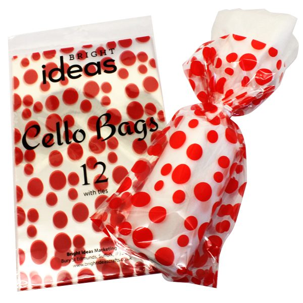 BI2623 Dotty Cellophane Bags