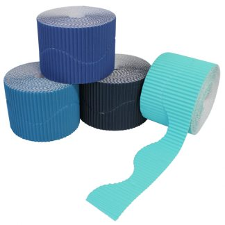 BI7871 Blue Corrugated Border Rolls Wavy PK04